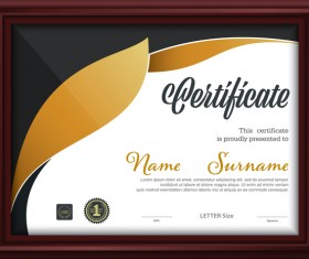 Certificate template with frame vectors 01