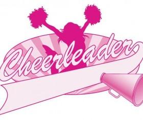 Cheerleader Jump Logo Design vector