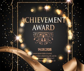 Chievement award ornate template vector