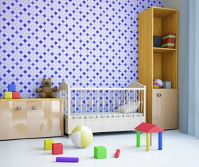 Childrens room furnishing and toys Stock Photo 02