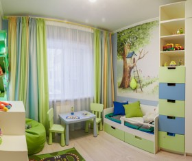 Childrens room furnishing and toys Stock Photo 04