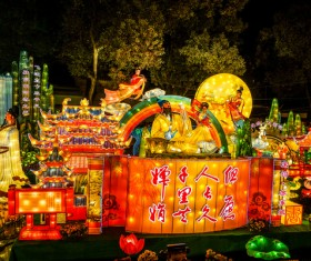 China Spring Festival festive lantern festival Stock Photo