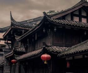 China ancient building construction Stock Photo