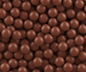 Chocolate beans background vector