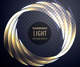 Circle light effect vector
