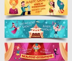 Circus tickets template vectors design 01