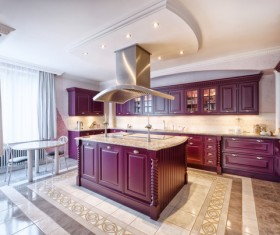 Classical Open kitchen Stock Photo 03