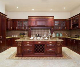 Classical Open kitchen Stock Photo 04
