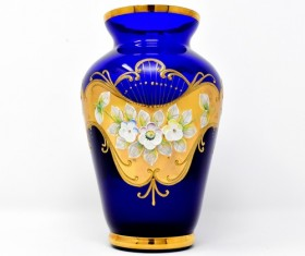 Classical blue ceramic vase Stock Photo