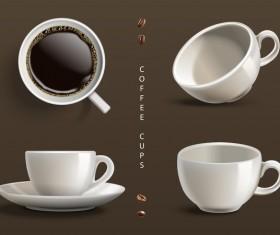 Coffee cups illustration vector