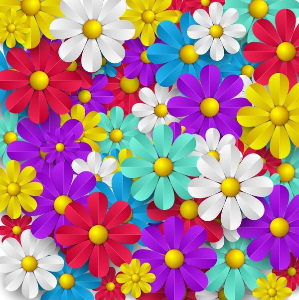 Colored paper flower seamless pattern vector vector flower free colored paper flower seamless pattern vector mightylinksfo Gallery