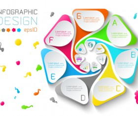 Colored paper infographic templates vectors 02