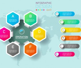 Colored paper infographic templates vectors 04