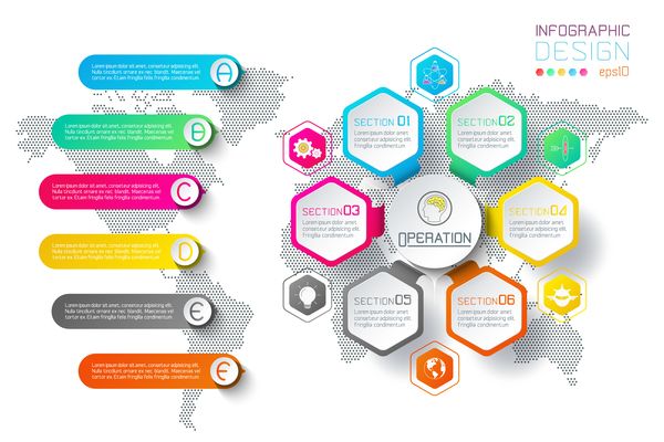 colored paper infographic templates vectors 05 free download