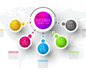 Colored paper infographic templates vectors 12