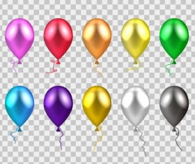 Colorful balloons vector illustration 01