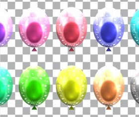 Colorful balloons vector illustration 02