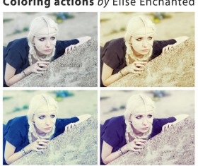 Coloring Photoshop Action