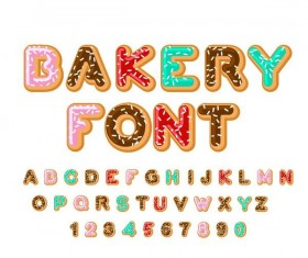 Cookies alphabet design vector 01