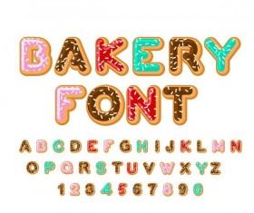 Cookies alphabet design vector 01