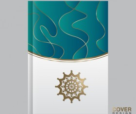 Cover template magezine with book vectors 09