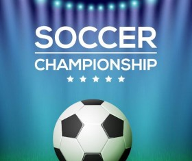 Creative soccer poster template design vector