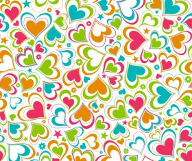 Cute heart shape seamless pattern vector