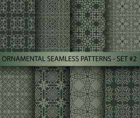 Dark ornament seamless pattern vector 01
