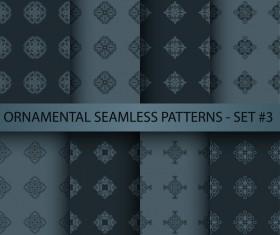 Dark ornament seamless pattern vector 02