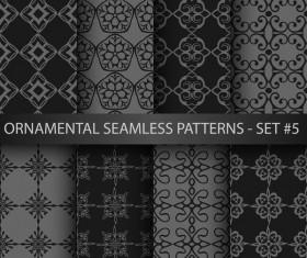 Dark ornament seamless pattern vector 03