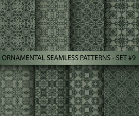 Dark ornament seamless pattern vector 04