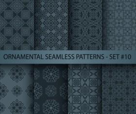 Dark ornament seamless pattern vector 05