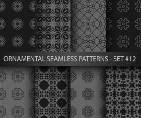 Dark ornament seamless pattern vector 06