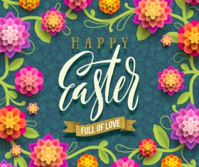 Dark pattern with easter card vector