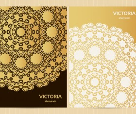 Decorative floral retro background vectors