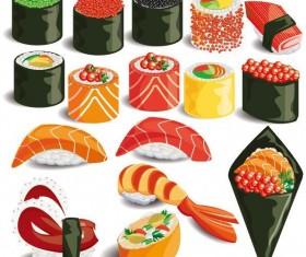 Delicious sushi vector set 02