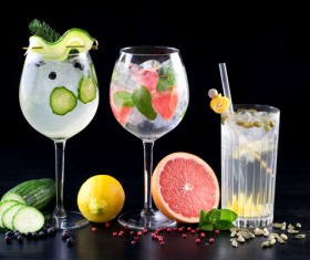 Different flavors of delicious cocktails Stock Photo 05
