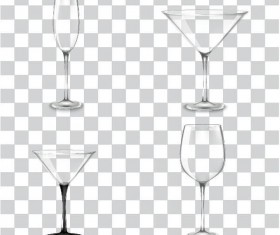Different glass cup illustration vectors 02
