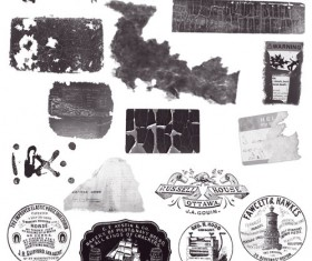 Dirty Labels Stamps Photoshop Brushes