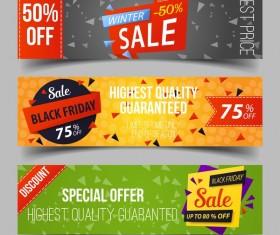 Discount sale banner vectors material 01