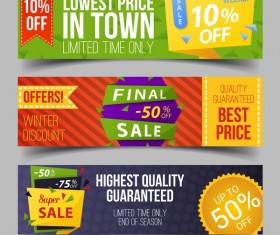 Discount sale banner vectors material 02