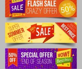 Discount sale banner vectors material 03