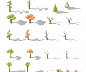 Dry tree with green tree vector