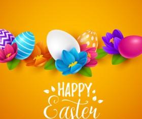 Easter egg with orange background vectors 04