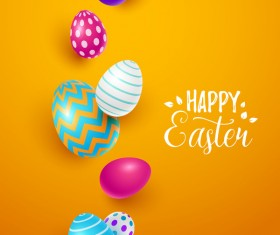 Easter egg with orange background vectors 07