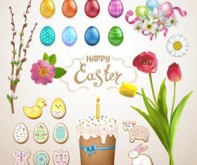 Easter illustration vector set