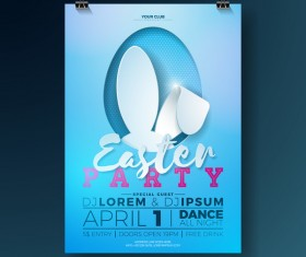 Easter party flyer with poster template vectors 01
