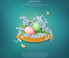 Easter poster with cover template creative vector 01