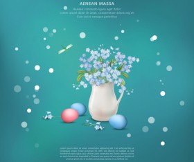 Easter poster with cover template creative vector 02