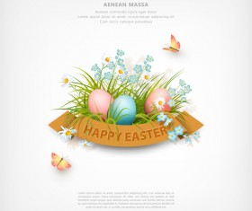 Easter poster with cover template creative vector 03